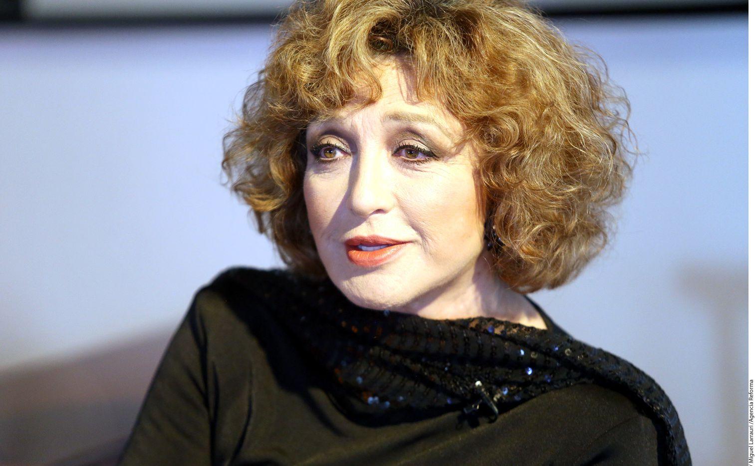 La actriz y cantante Angélica María. AGENCIA REFORMA.