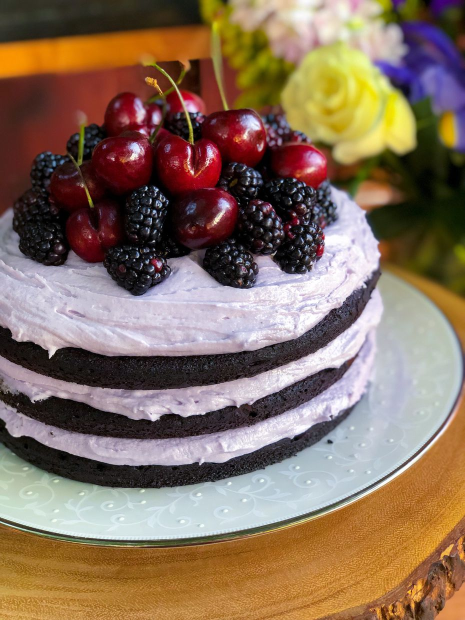 """""""I have a big sweet tooth, so I'm a dessert person,"""" Katie-Rose Watson says. Her chocolate lavender dream cake is one of her favorite recipes."""
