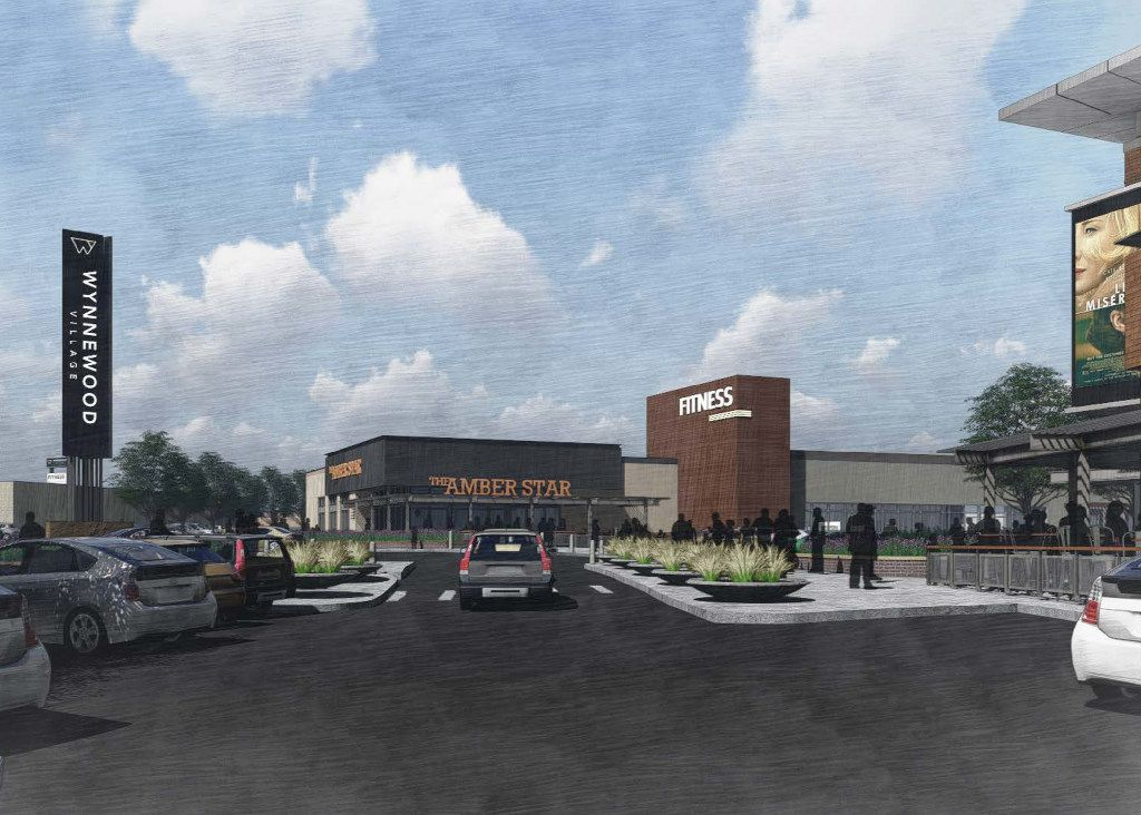 Renderings of proposed plans for Wynnewood Village. Brixmor Property Group has been working with the city of Dallas to begin making improvements to the sprawling shopping center on 65 acres just west of I-35 along S. Zang Boulevard and Illinois Avenue.