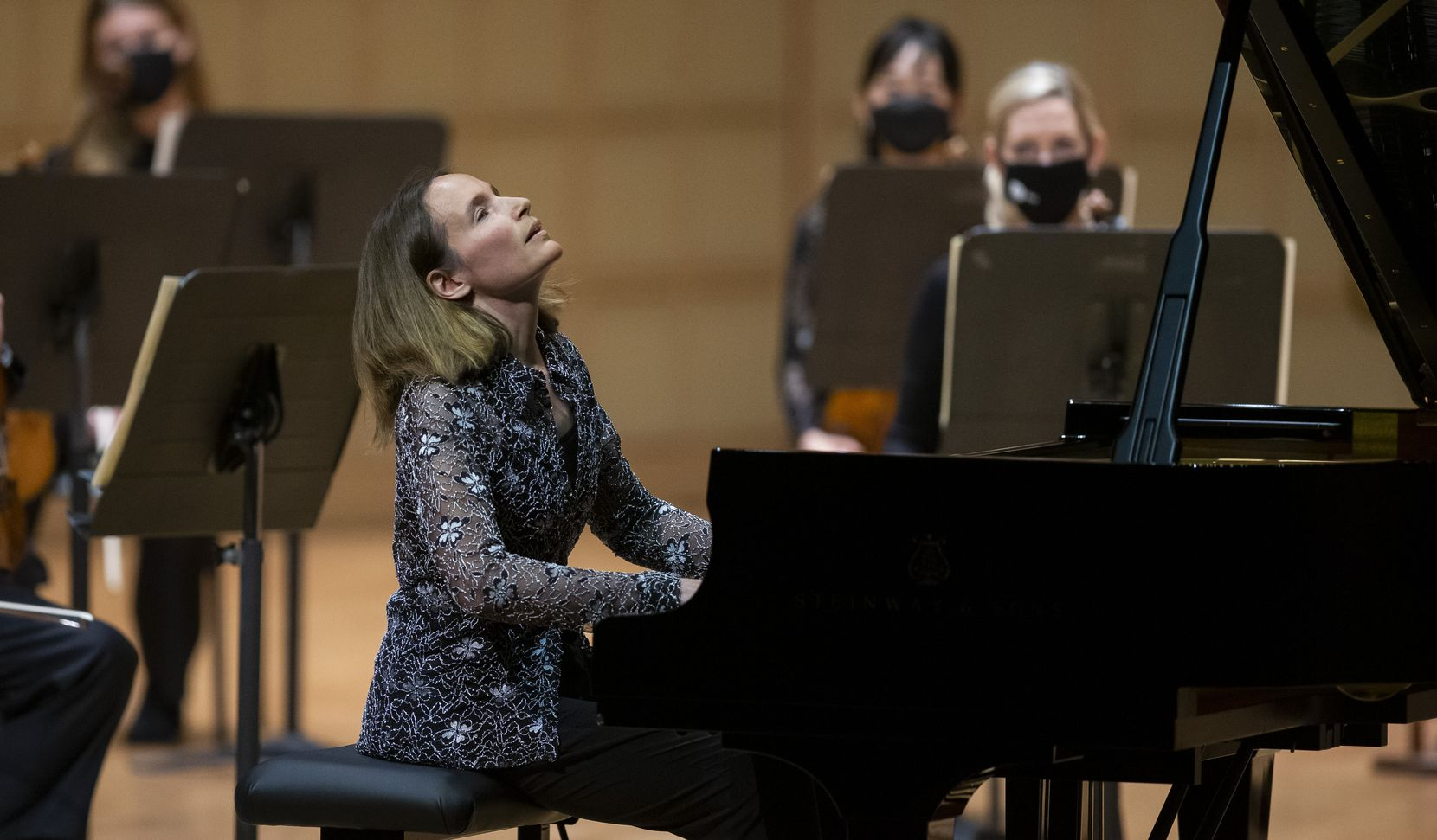 Pianist Helene Grimaud performs Mozart's Piano Concerto No. 20 in D minor with guest conductor Nicholas McGegan and the DSO on Jan. 14.