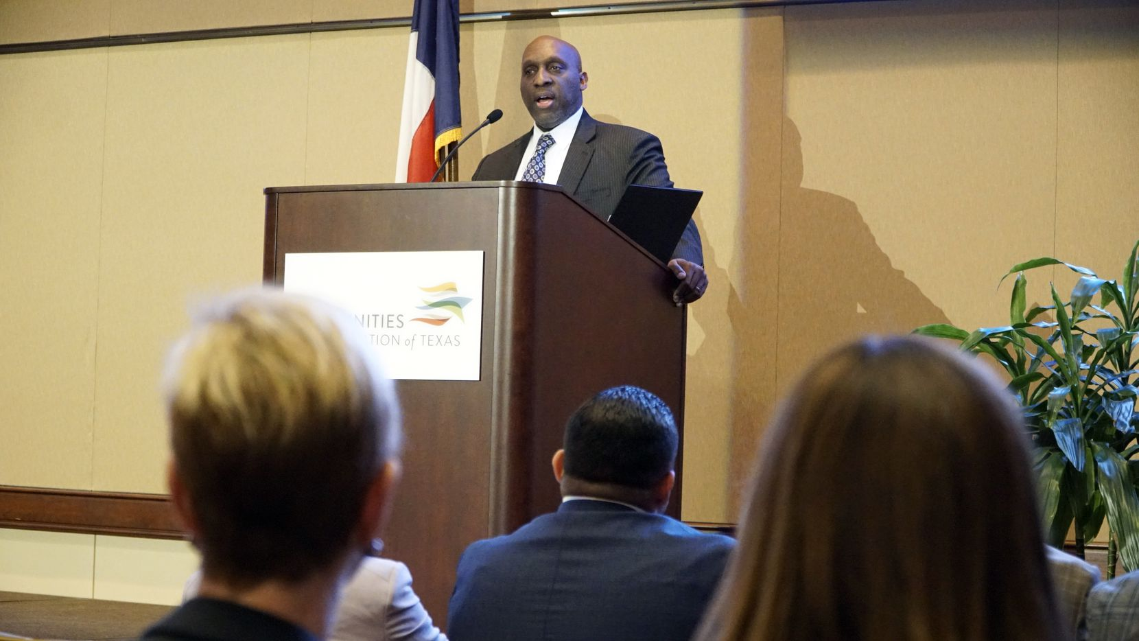 City Manager T.C. Broadnax speaks about the city's equity indicators project at the Communities Foundation of Texas in Dallas, Texas on Friday, October 28, 2019.  (Lawrence Jenkins/Special Contributor)