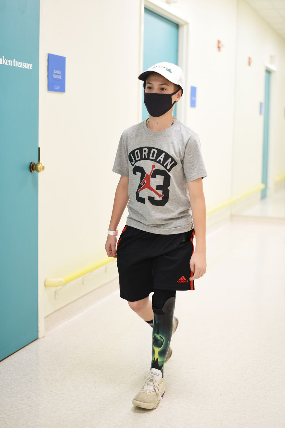 The prosthetics team at Scottish Rite for Children worked closely with Austin, listening to his input to create a prosthesis that fully represented him.
