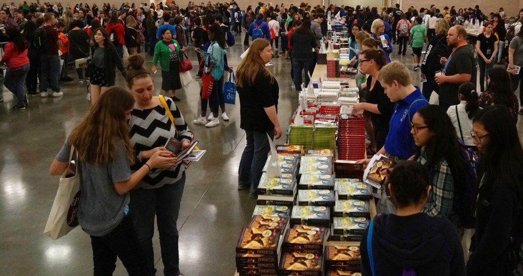 Thousands of young book fans came out to the North Texas Teen Book Festival at the Irving Convention Center in Irving, Texas on Saturday, March 4, 2017. The fair featured free books, workshops and autograph sessions with authors.