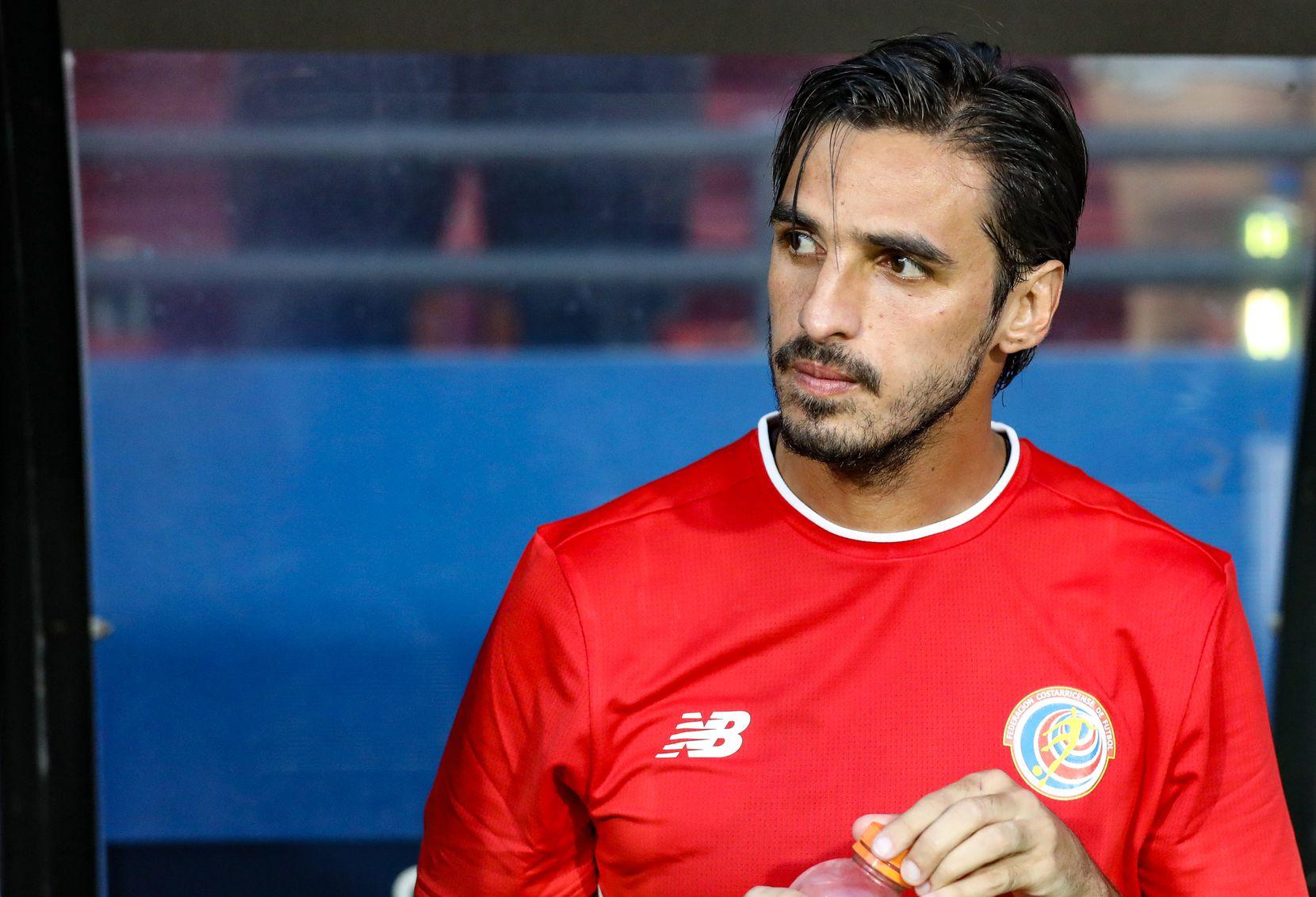 Bryan Ruiz awaits the start of the 2019 Gold Cup match between Costa Rica and Bermuda at Toyota Stadium. (6-20-19)