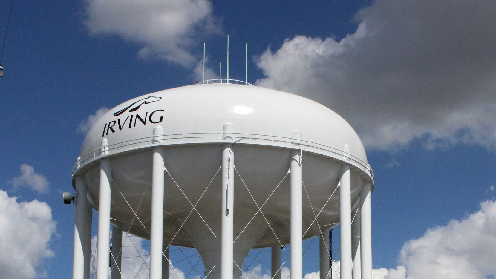 The City of Irving's water tower