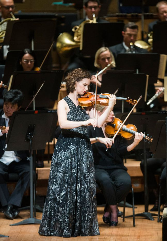 Violin soloist Hilary Hahn performs Dvorak's Concerto in A Minor for Violin and Orchestra with the Dallas Symphony Orchestra.