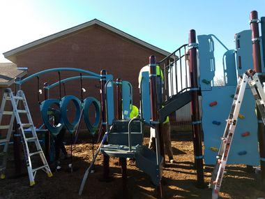 The Grand Prairie Family YMCA has a new playground.