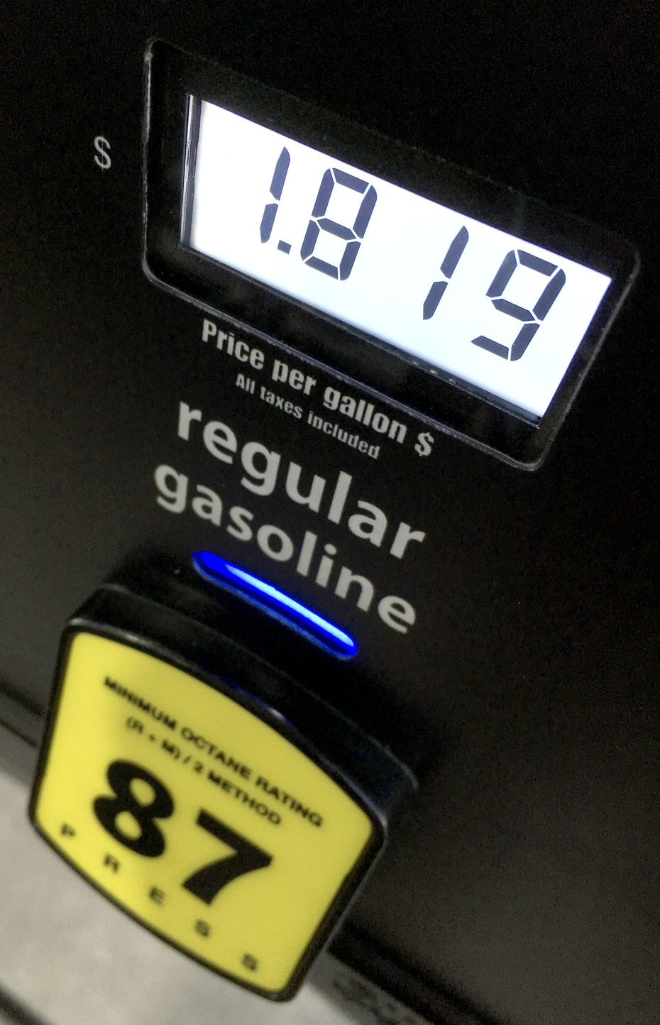 The price for members who buy their gas at Costco was even lower than the already low prices at gas stations around North Texas, on Dec. 1, 2018 in Dallas.