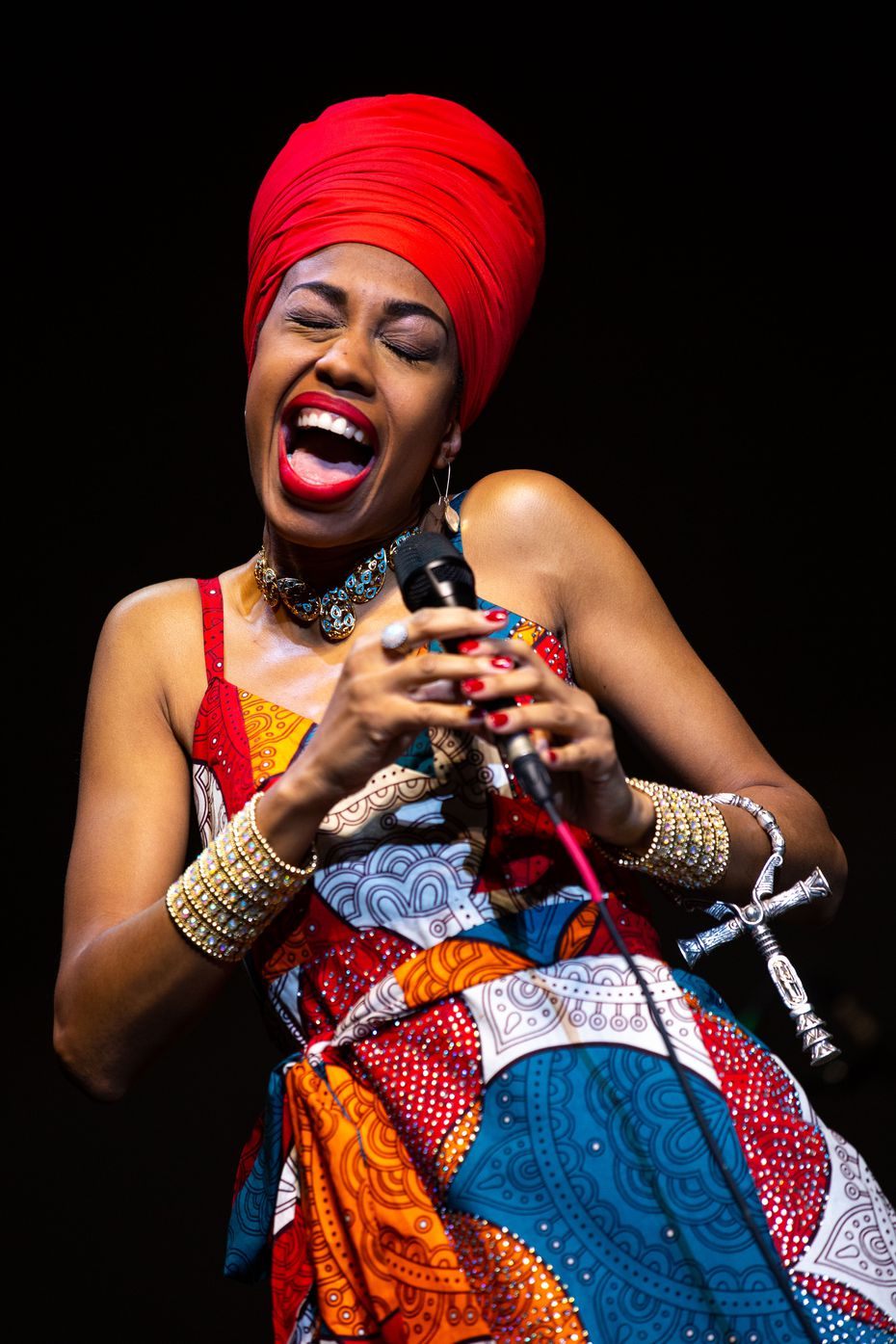 "Jazzmeia Horn is an ebullient performer, who performed songs from her newest album, ""Love and Liberation."""