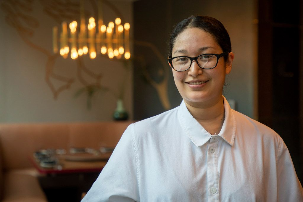 Executive chef Angela Hernandez at Fine China, a new restaurant opening in the Statler, on Friday, July 6, 2018, in Dallas. (Smiley N. Pool/The Dallas Morning News)