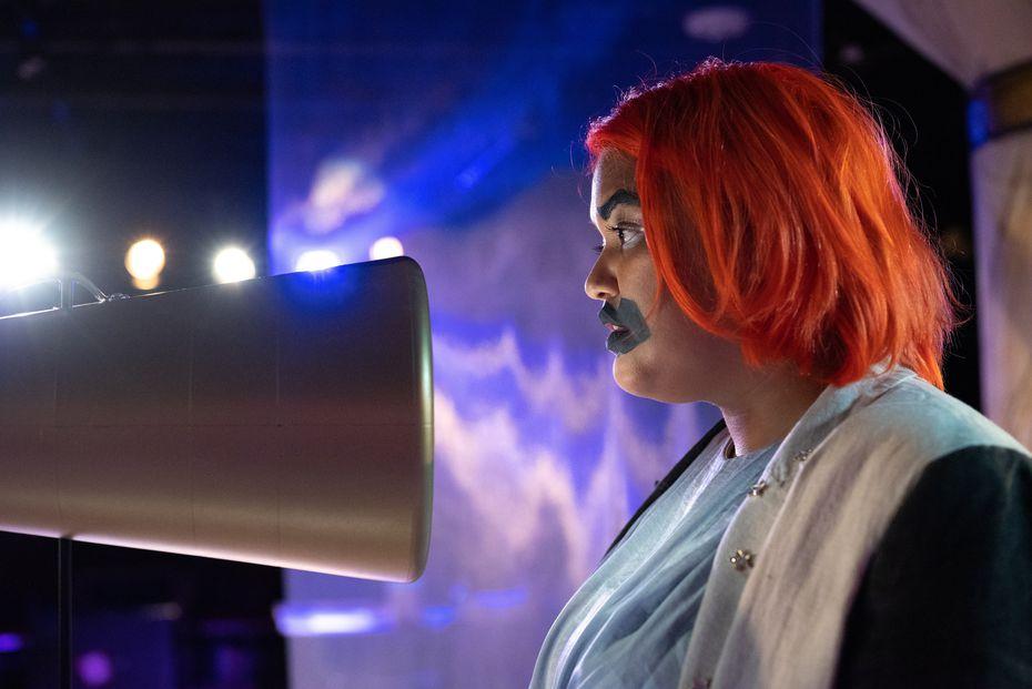 "Mindamora Rocha as Ismene in Undermain Theatre's presentation of ""Stronger Than Arms."""