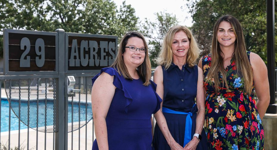 29 Acres chief operating officer Morgan McKay (left), founder Debra Caudy (center) and outreach coordinator Katelynn Andregg are among the more than 70 staffers involved in day-to-day operations.