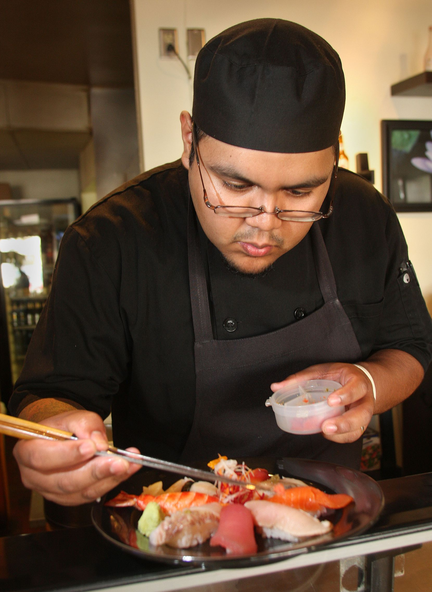 Jesús García earned four stars for Fort Worth's Little Lilly Sushi when he was head chef there.