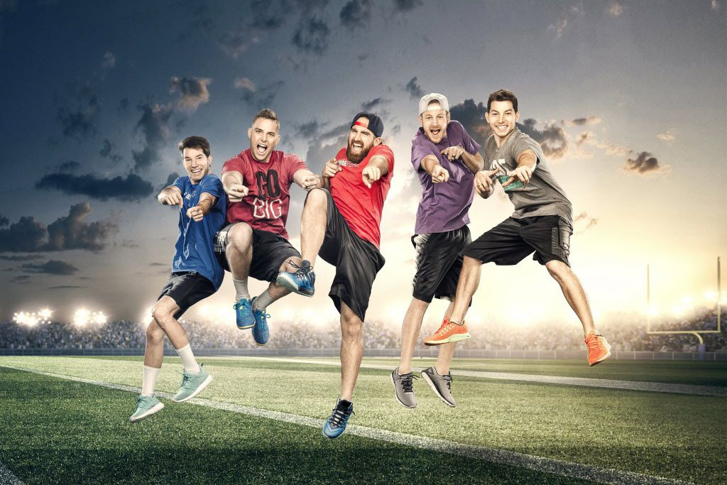 """The cast of """"Dude Perfect."""" (CMT)"""