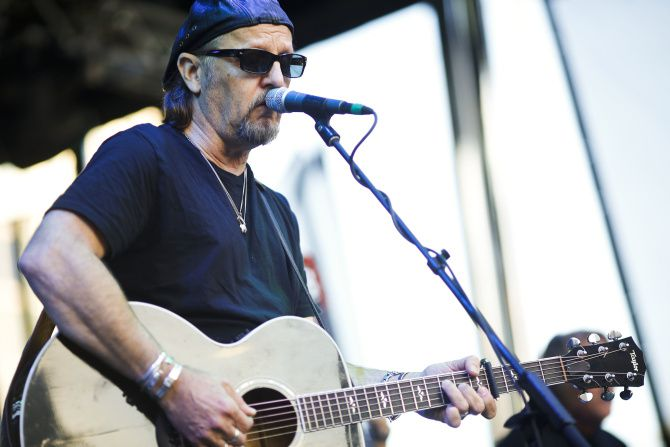 Jimmy LaFave performs on the main stage at Klyde Warren Park in Dallas on Sunday Oct. 28, 2012. It was the opening day of Klyde Warren Park.