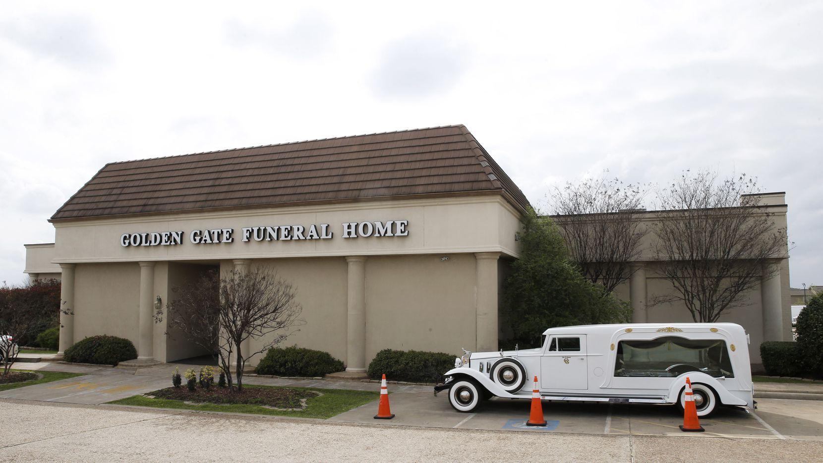Golden Gate Funeral Home in Dallas.