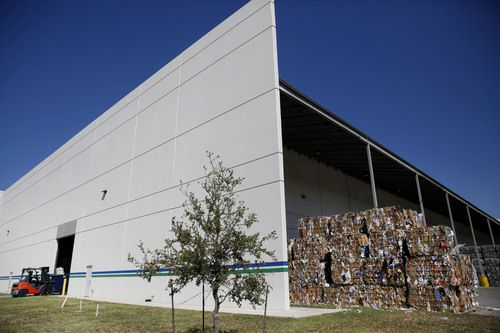 The exterior of Dallas' recycling center. Dallas isn't suffering like other communities because of China's refusal to accept our recycling, in part, because of this plant.