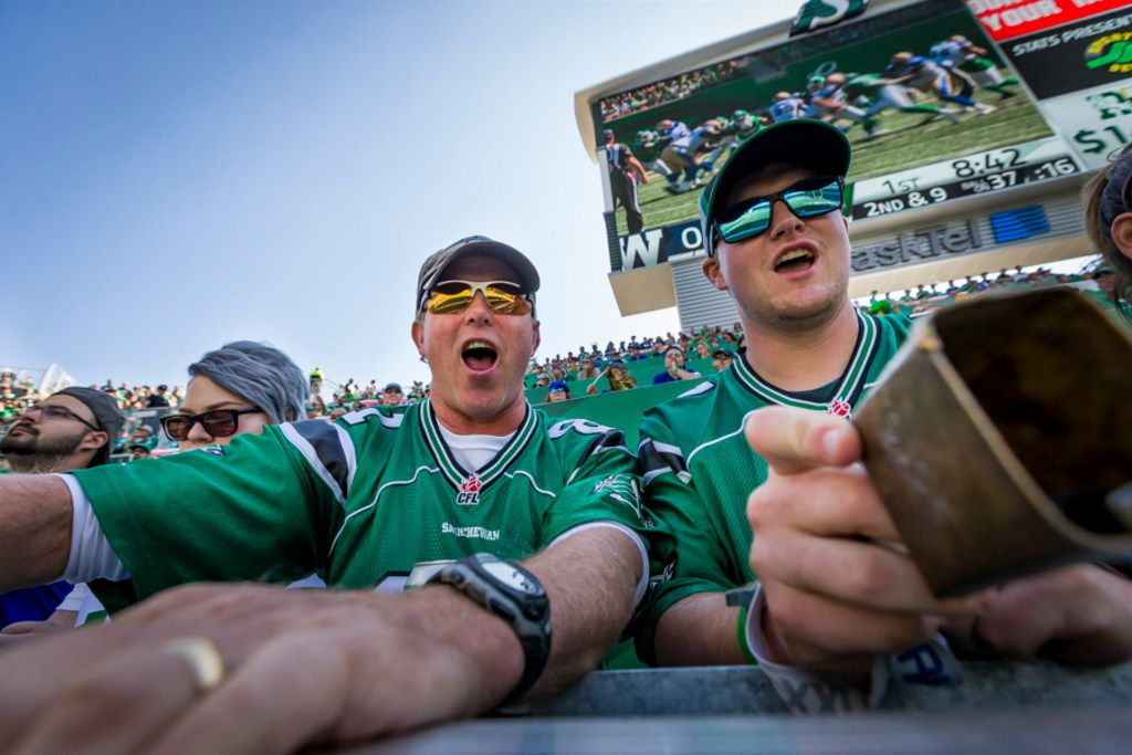Saskatchewan Roughriders fans are acknowledged as the most enthusiastic fans in the Canadian Football League, often traveling hundreds of miles to get to their games.