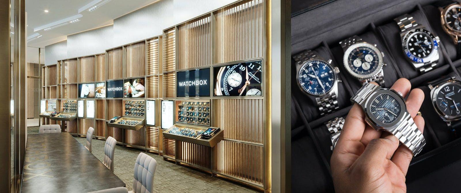 A WatchBox store in Dubai.