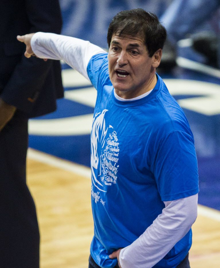 Dallas Mavericks owner Mark Cuban is a huge fan of Kevin Durant's but doesn't think Oklahoma City point guard Russell Westbrook is on the same superstar level as Durant.  (Ashley Landis/The Dallas Morning News)