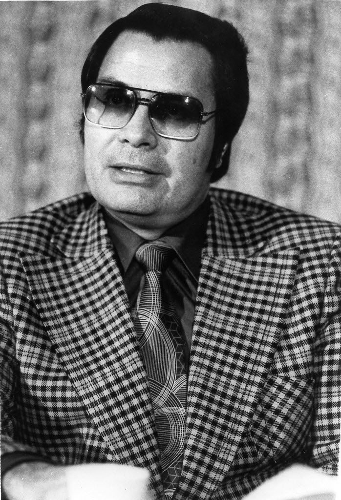 FILE - This Jan. 1976 photo shows the Rev. Jim Jones, pastor of peoples Temple in San Francisco. (AP Photo/File)