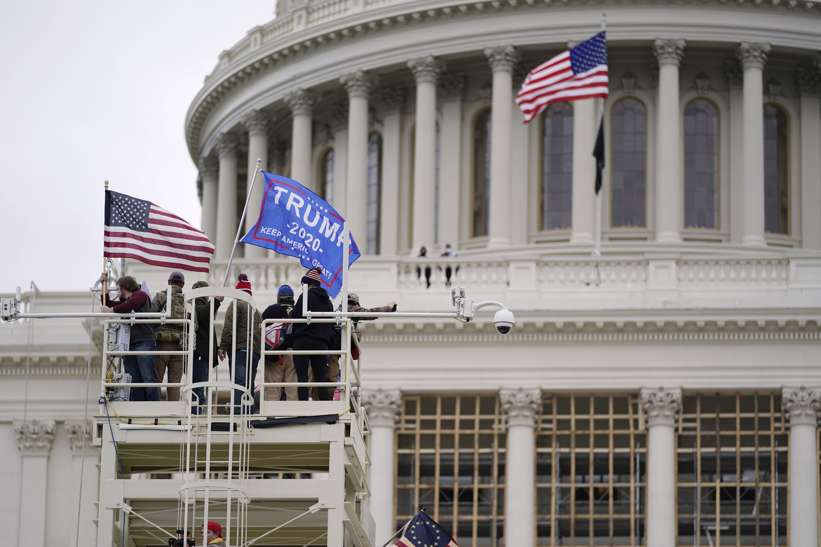 Trump supporters rally Wednesday, Jan. 6, 2021, at the Capitol in Washington. As Congress prepares to affirm President-elect Joe Biden's victory, thousands of people have gathered to show their support for President Donald Trump and his claims of election fraud.