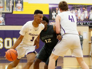 Richardson's Rylan Griffen (3) ranks seventh in the Dallas area in scoring, averaging 21.7 points per game.