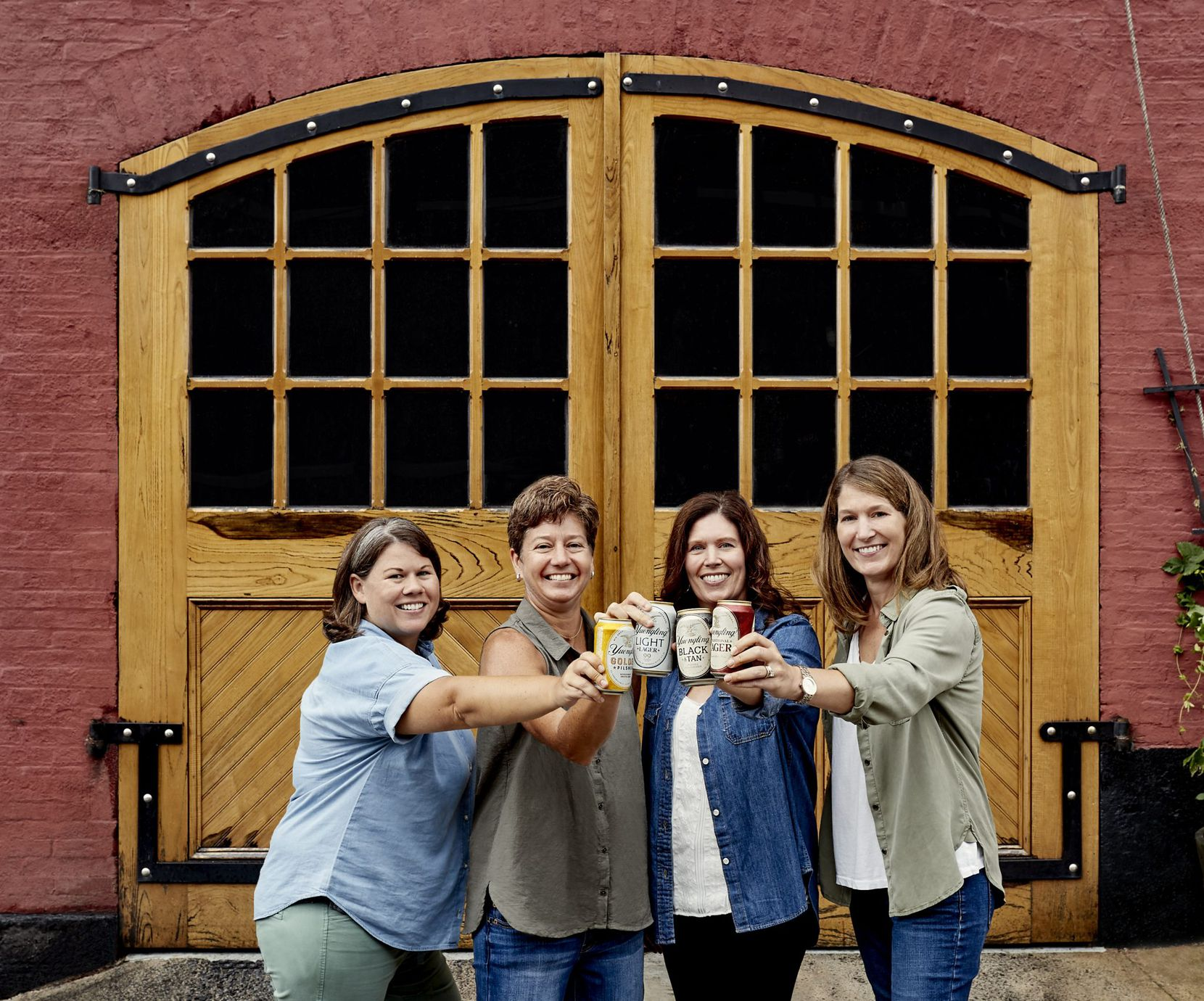 D.G. Yuengling & Son has been a family-run brewery since it launched in 1829. The company is operated by president Dick Yuengling, a fifth-generation family member, and his four daughters (pictured, from left): Sheryl Yuengling, Jen Yuengling, Debbie Yuengling and Wendy Yuengling.