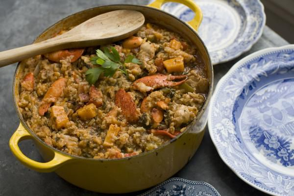This Feb. 3, 2014 photo shows a southwest variation of jambalaya in Concord, N.H.