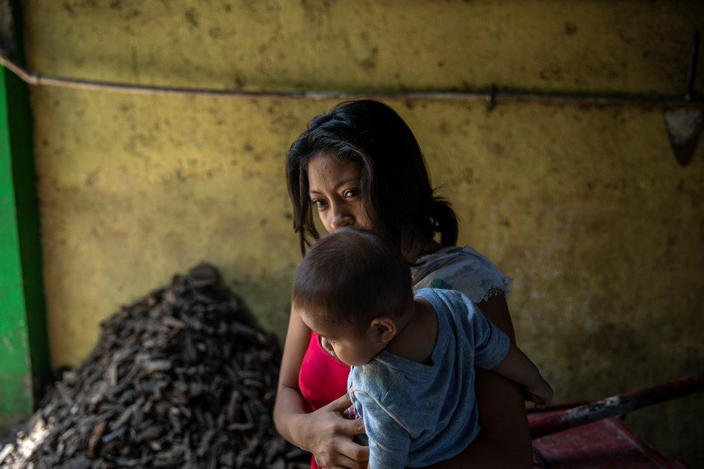 """Yolanda Lopez, who fled to Mexico from El Salvador, fearing for her children's safety, in Tapachula, Mexico. In Mexico, she heard about the Trump administration's policy of separating children from their parents at the border. """"What bad luck,"""" she said."""
