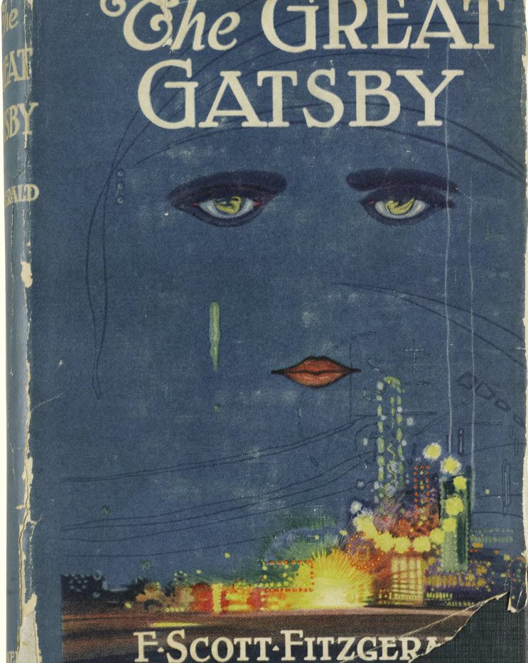 A first edition of  F. Scott Fitzgerald's The Great Gatsby that was auctioned in 2013.