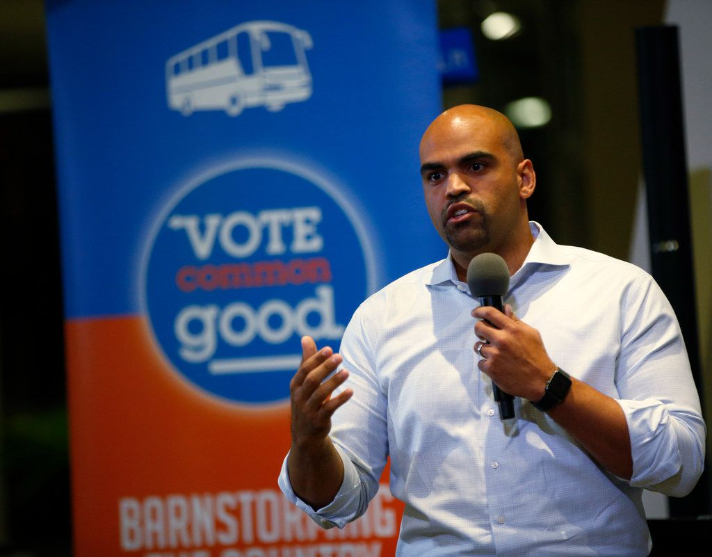 Colin Allred, Democratic nominee for the U.S. House, spoke at a Vote Common Good event at Northaven United Methodist Church in Dallas on Oct. 18, 2018.