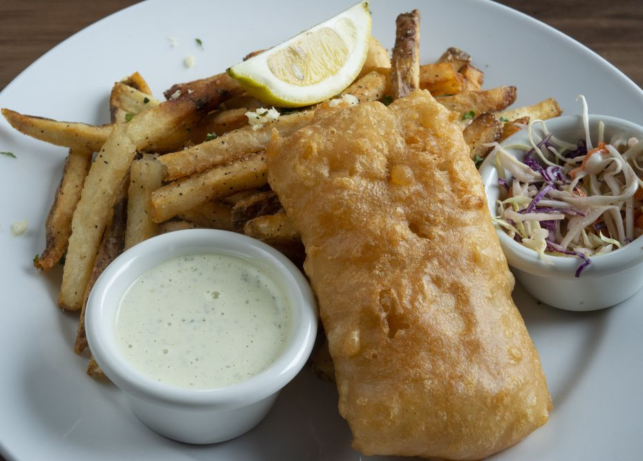 Lochland's fish and chips comes with hand-cut fries.