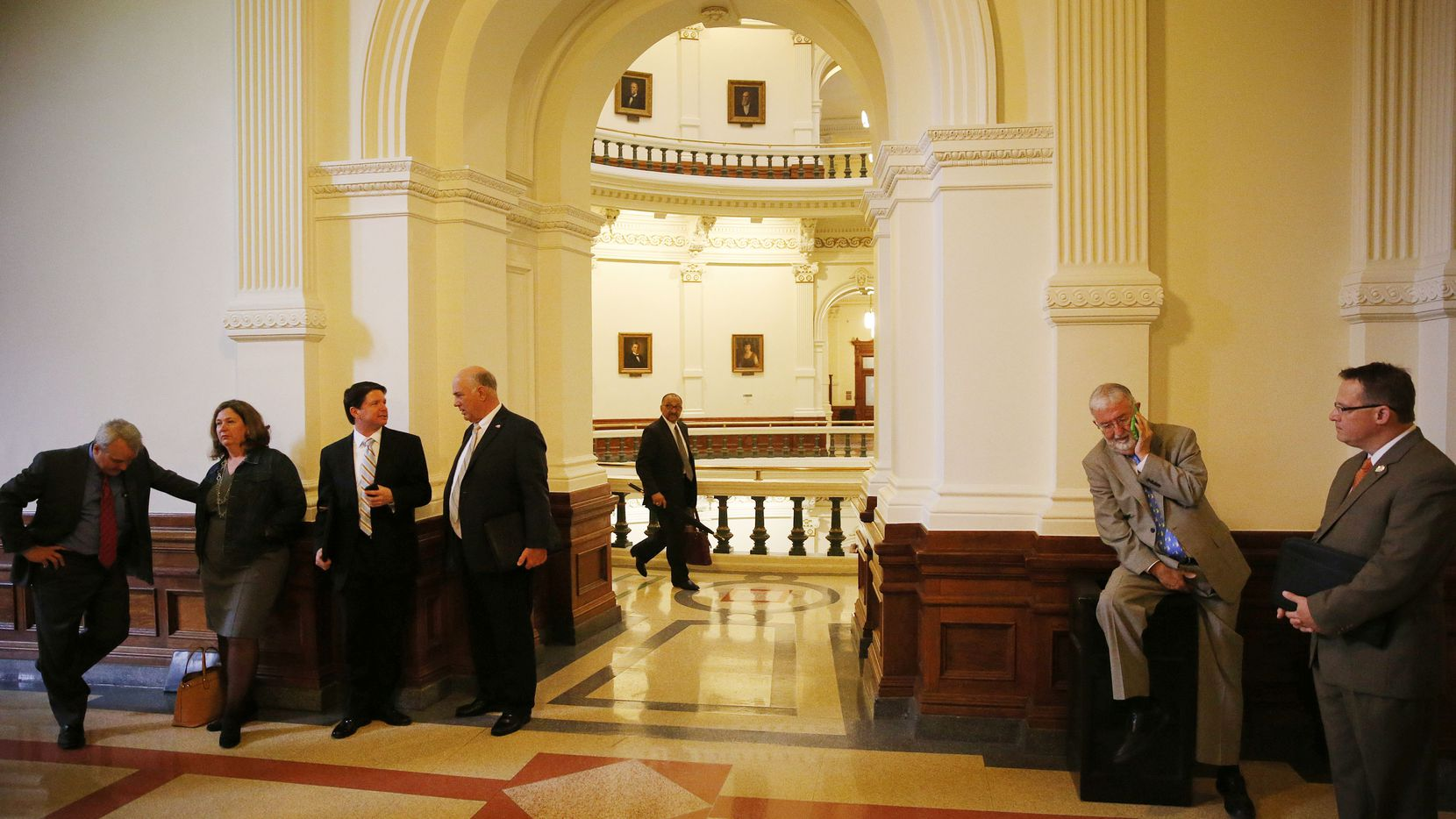 Who gets to run the gauntlet of lobbyists outside the door of the Texas House, shown during 2015, will be decoded in November.