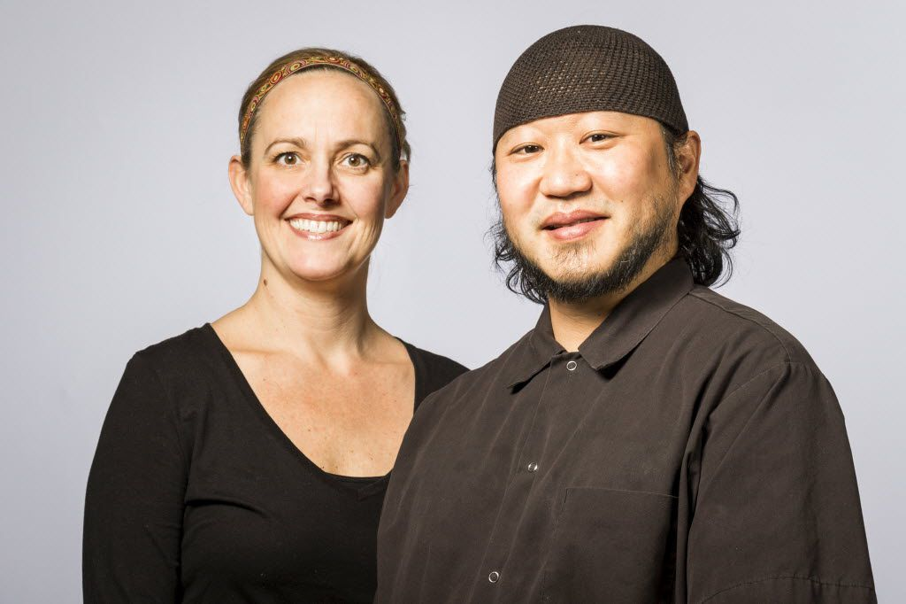 Lark on the Park executive chef Melody Davis with her husband — and former co-executive chef — Dennis Kelley, in 2015. (Smiley N. Pool/The Dallas Morning News)