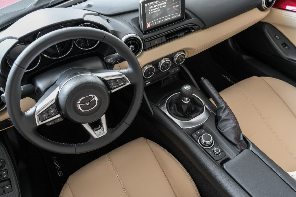 Mazda says 60 percent of MX-5s are sold with the manual gearbox.