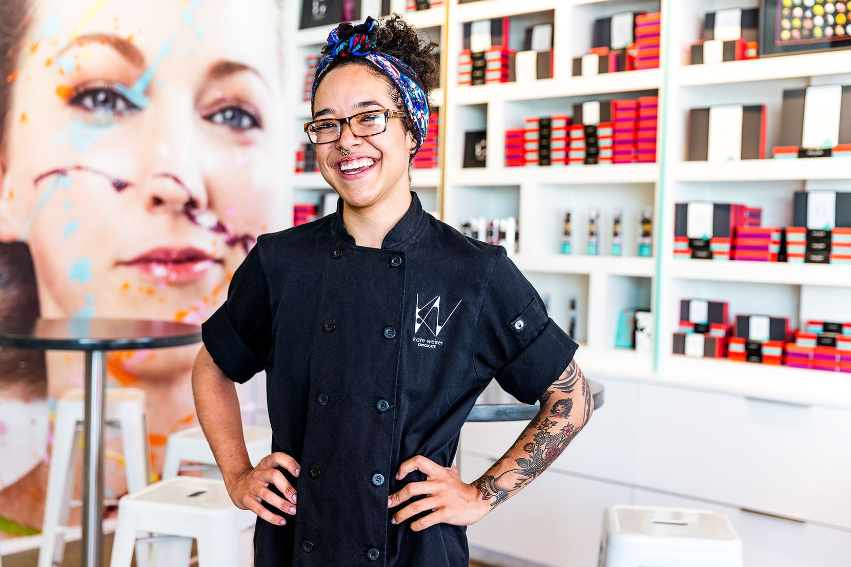 Jessica Stampley, 23, sous chef at Kate Weiser Chocolate