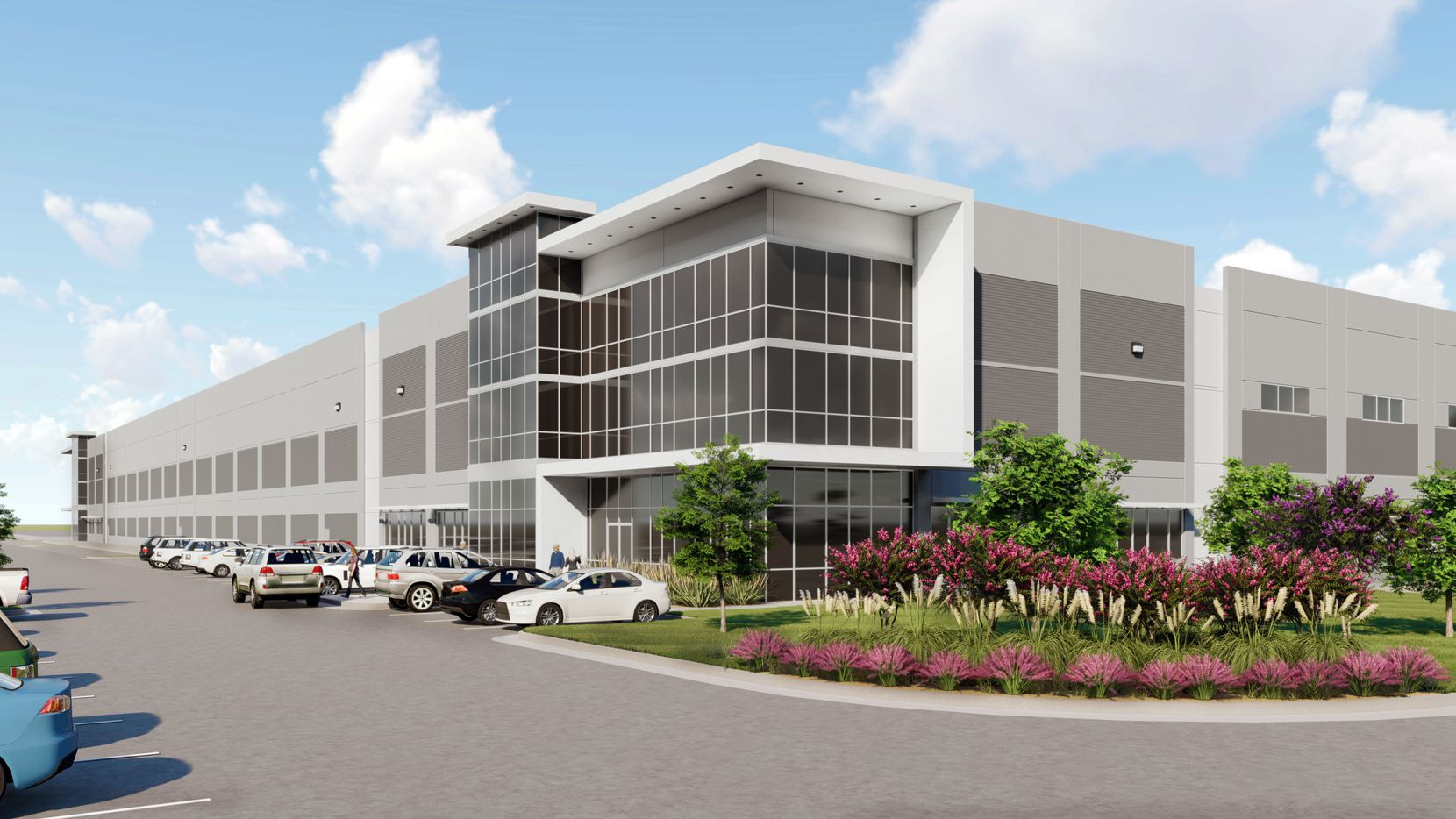 The first buildings in the new industrial park will be ready early next year.