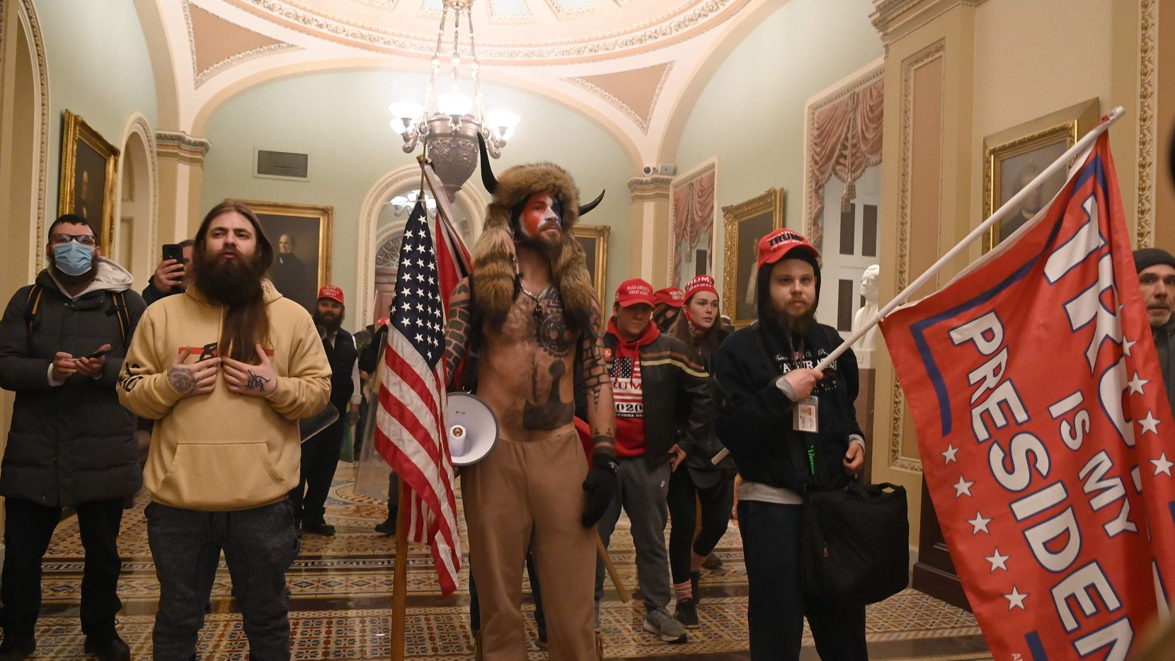 Supporters of President Donald Trump enter the US Capitol on January 6, 2021, after breeching security and interrupting Congress as it certified the Electoral College vote.