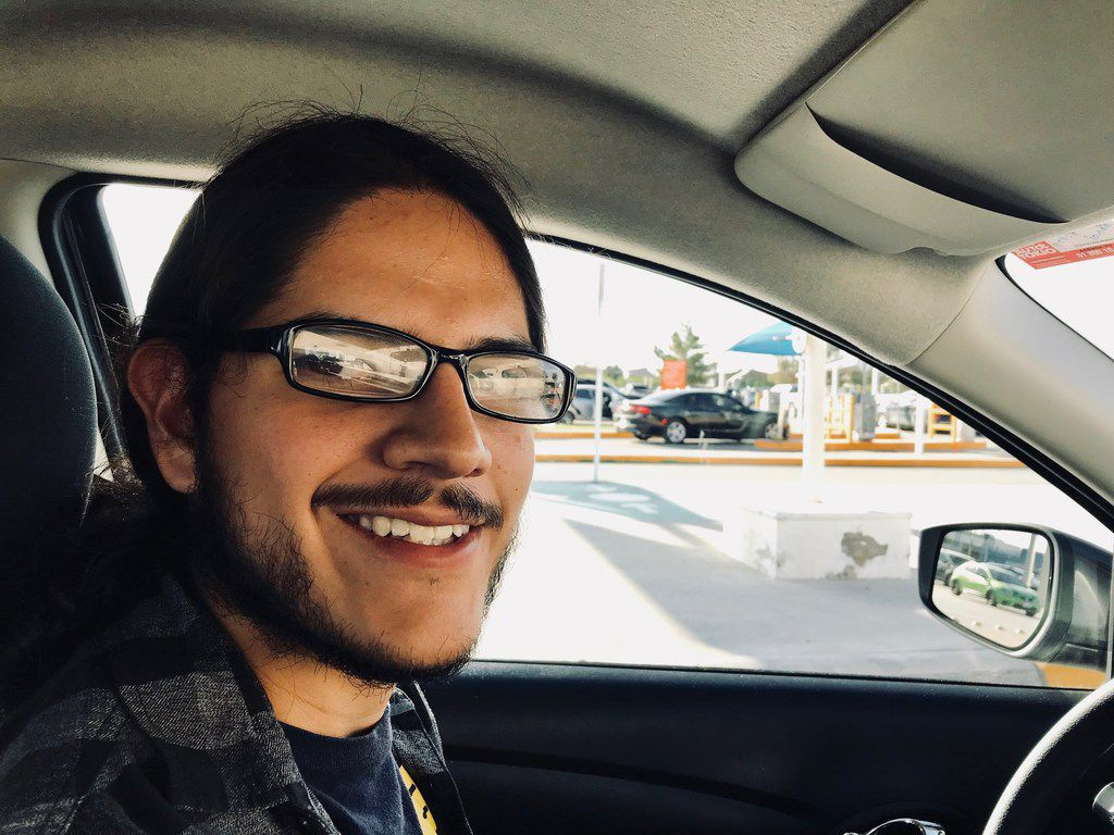 Adriel Armando Peña Rodriguez, 22, a driver in Ciudad Juárez across the border from El Paso, is voting for Andrés Manuel López Obrador in the hopes the left-leaning candidate can usher in change in Mexico and quell violence and corruption. (Alfredo Corchado/Staff Photo)