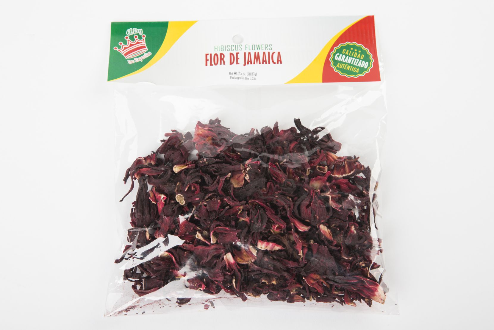 Dried hibiscus flowers are also known as flor de Jamaica.