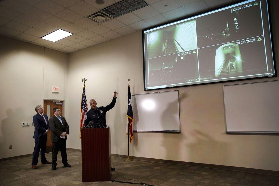 Autoridades de Denton revelaron imágenes del arresto de Darius Tarver en marzo de 2020.