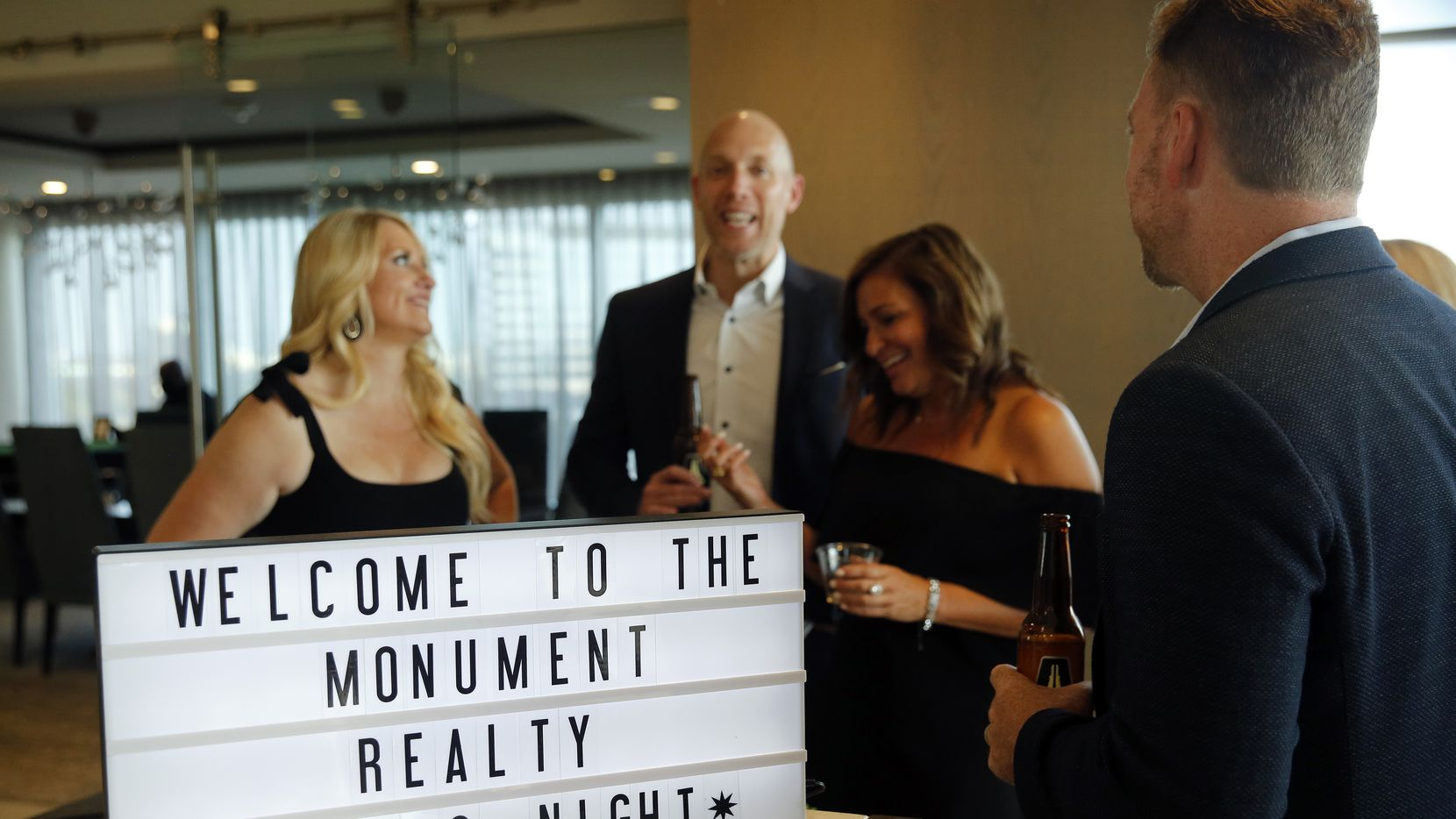 Monument Realty agents and staff gathered for a casino night in Frisco on Aug. 28.