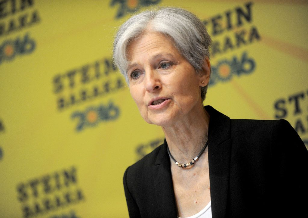 Jill Stein discusses 'Green New Deal' held at Holiday Inn Lower East Side, in New York City.
