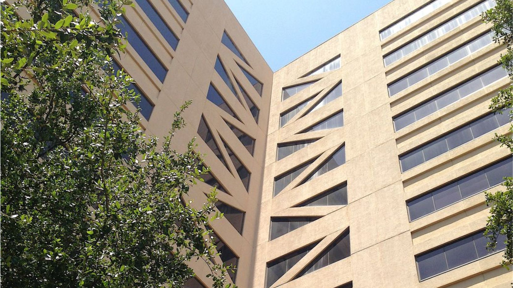 The Crossings office buildings are on LBJ Freeway east of the Dallas Galleria.