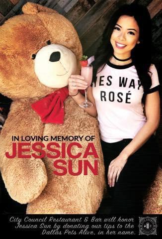 Imagen tomada de la página de Facebook del restaurante City Council de un homenaje que se realizó para Jessica Sun