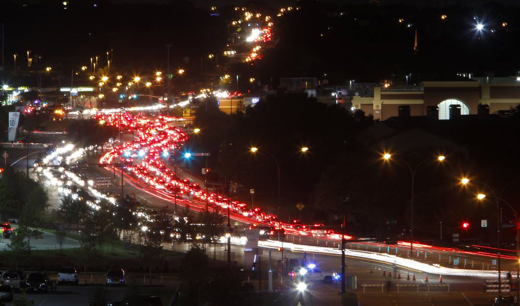 Traffic leaving both a Texas Rangers baseball game and a Tim McGraw headlined Super Bowl XLV concert at AT&T Stadium in 2010.