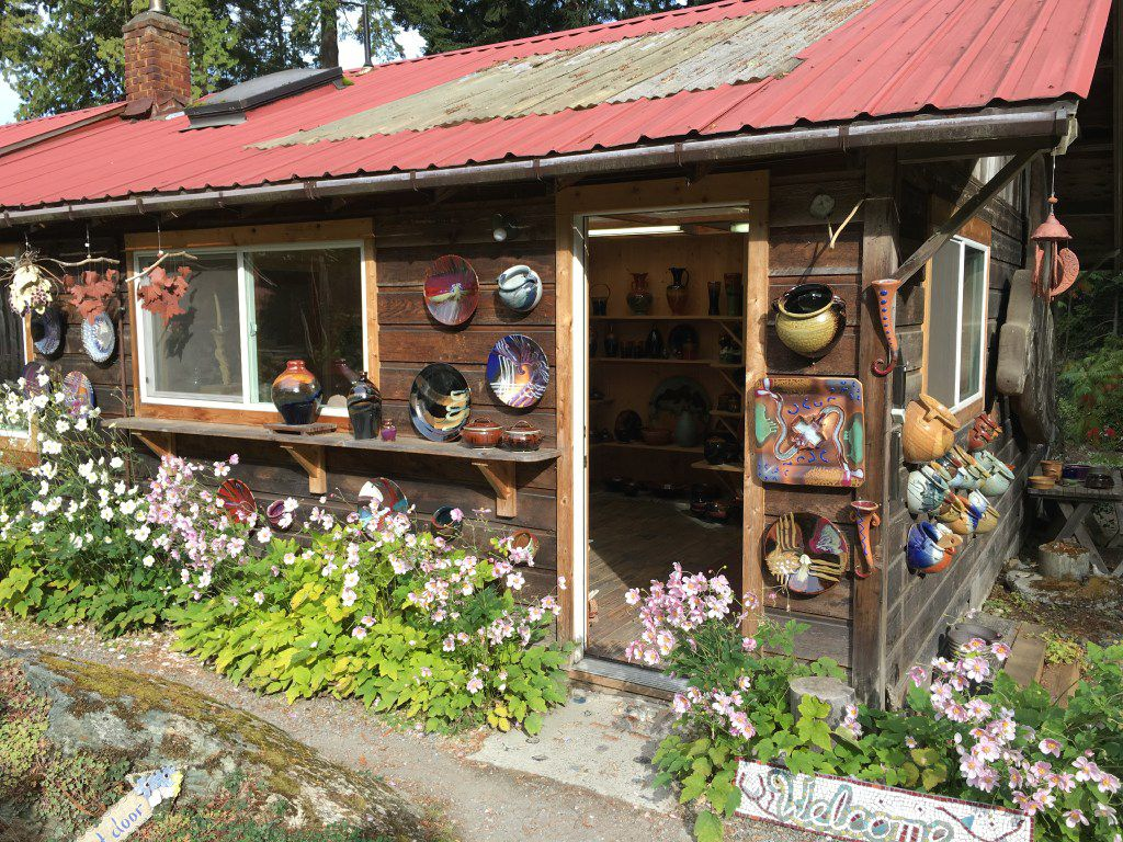 Orcas Island Pottery was founded in 1945. It features works by a dozen potters.