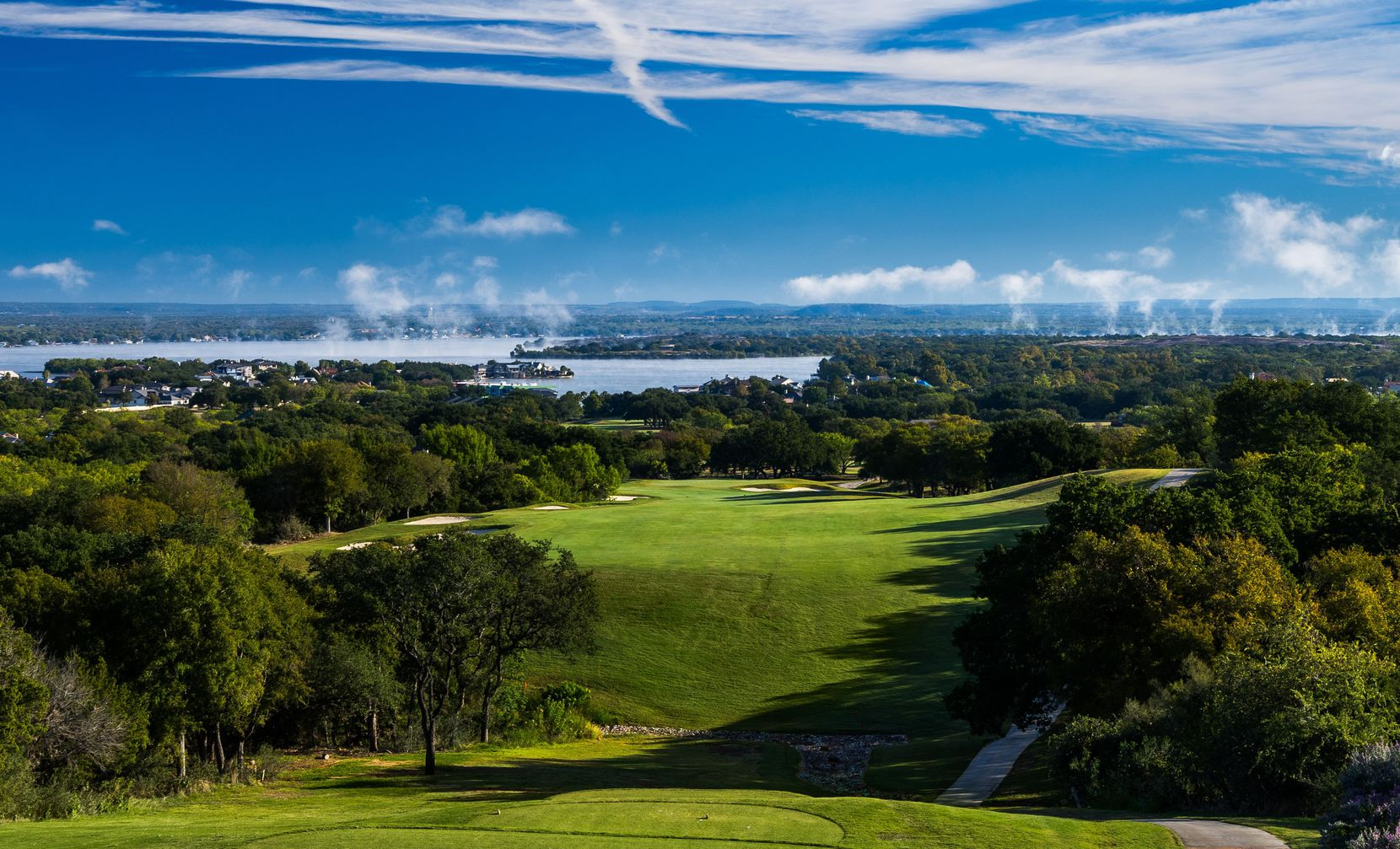 No. 10 on Horseshoe Bay's Apple Rock Course is a 567-yard downhill par-5 hole from the tips. The course was renovated as part of a $100 million project that included the resort's other two courses along with the private Summit Rock.