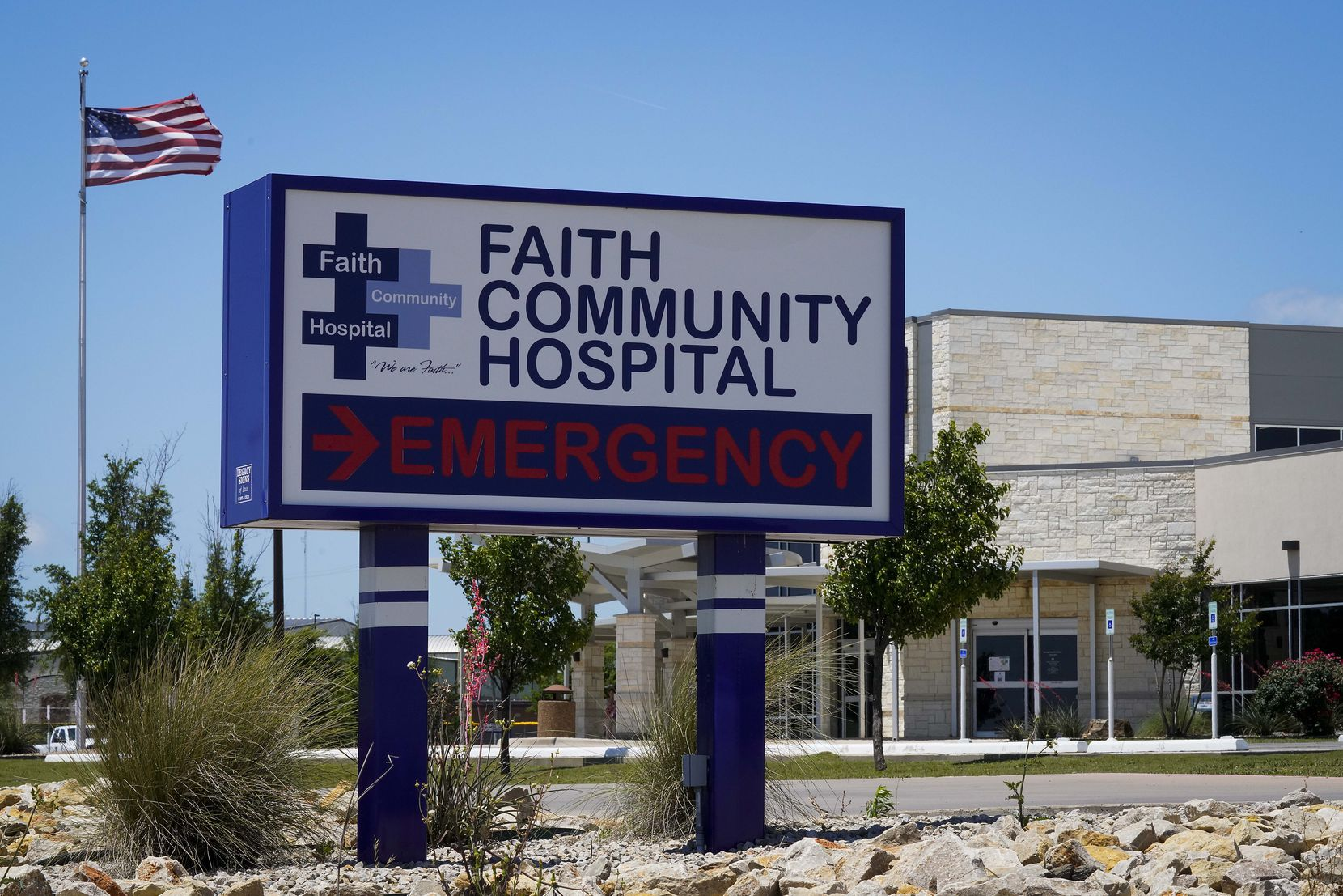 Faith Community Hospital in Jacksboro is the only hospital within about 50 miles.